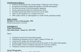 resume ideas for customer service photographer resume photographer resume skills