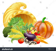 thanksgiving golden horn plenty cornucopia stock vector