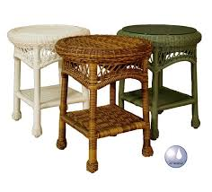 round wicker end table wicker end tables sanibel round outdoor wicker end table all about