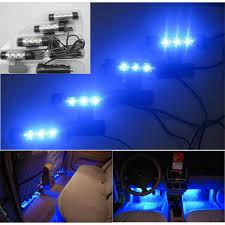 Car Interior Blue Lights Universal Blue Light Car Interior Led Atmosphere Lamp 4 In 1 12v