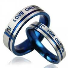 about titanium rings images Love only you quot stylish and unique design blue cross lover 39 s jpg