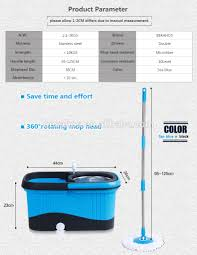 Floor Mop by New Hand Press Microfiber Mop With Blue Square Plastic Bucket