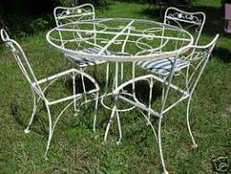 Lyon Shaw Wrought Iron Vintage Wrought Iron Patio Furniture - Antique patio furniture