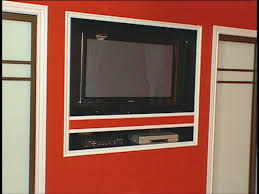 how to building a recessed home for flat screen tv hgtv