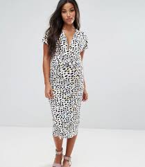 maternity nursing asos maternity nursing dress with twist knot in animal print
