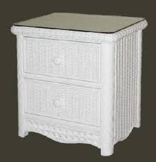 Nightstand With Drawer White Wicker Nightstand Wicker Bedside Table