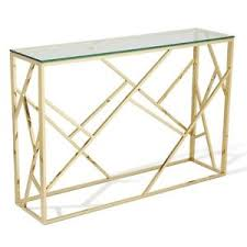 Metal Console Table Glass Console Table Hallway Furniture Living Room Modern Gold