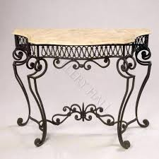 Wrought Iron Console Table Adorable Wrought Iron Console Table With Small Europeon Also