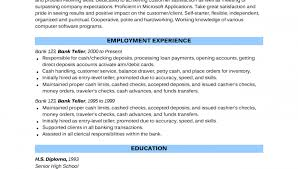Personal Banker Job Description For Resume by Resume Objective For A Bank Teller Chase Personal Banker Resume