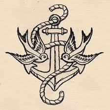 thread tattoos anchor and swallows threads unique and