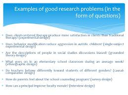 good experimental design selection of a research problem presentation bba mantra