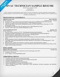 hvac technician resume exles hvac technician resume sle resumecompanion resume sles
