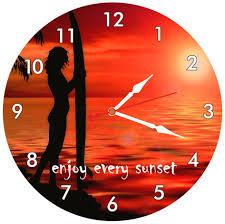 beautiful summer sunset wall clock clockart