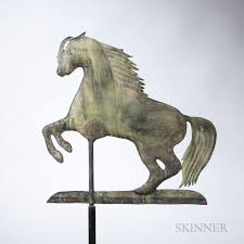 Horse Weathervane On Stand Small Rearing Arabian Horse Weathervane Sale Number 3022m Lot