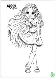 monster doll coloring pages alltoys
