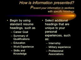 Military Experience Resume Resume Writing You Are What You Write Ppt Video Online Download