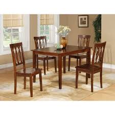 Overstock Dining Room Furniture Espresso 5 Piece Dining Table And Chairs Set Free Shipping Today