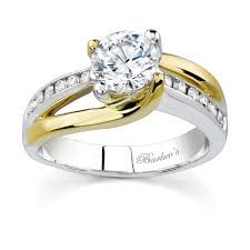 yellow gold wedding band with white gold engagement ring barkev s two tone engagement ring 6990ly