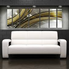 home decor sculptures large metal wall art panels abstract modern silver gold painting