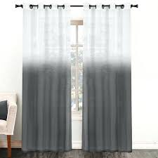 Grey Ombre Curtains Ombre Drapes Two Tone Inch Sheer Curtain Panel X Grey Ombre
