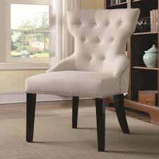 902238 button tufted back chair from coaster 902238 coleman