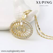 gold plated necklace wholesale images China muslim stone diamond big pendant from guangzhou wholesaler jpg