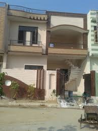 small house elevation with boundary wall external staircase loversiq