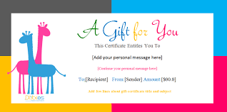 gift certificate template microsoft word birthday gift certificate templates for girls and boys gift