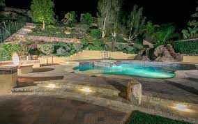 California Landscape Lighting Free Forming Pools And Spas Gallery Western Outdoor Design And