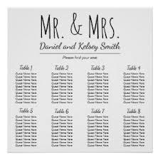 Wedding Seat Chart Template Wedding Seating Chart Posters Zazzle Com Au