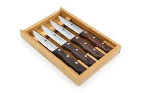 zwilling j a henckels steakhouse steak knife set with bamboo tray