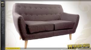 habillage canapé canapé 2 places en bois et habillage tissu coloris gris