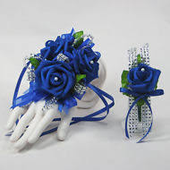 Royal Blue Boutonniere Items In Rose Corsages Store On Ebay
