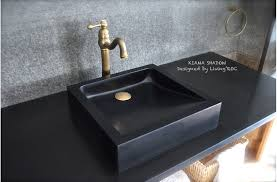 black stone bathroom sink 16 x16 black granite stone bathroom vessel sinks kiama shadow