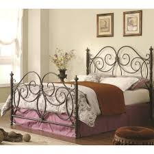 headboards black metal headboard and footboard queen iron