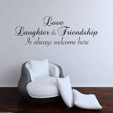 love laughter friend wall art sticker lounge quote decal mural love laughter friend wall art sticker lounge quote