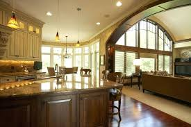 large kitchens design ideas small house plans with big kitchens thelodge club