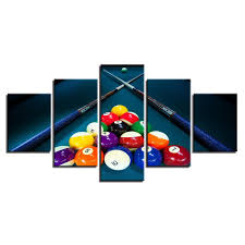 pool table wall art billiards pool table balls cue game room panel wall art canvas print