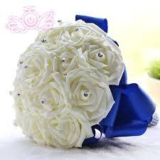 Blue Wedding Bouquets Blue Wedding Bouquets Pictures Rose Artificial Bridal Bouquet