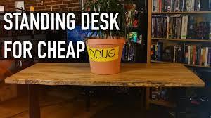 Cheap Sit Stand Desk by Standing Desk Under 400 Flexispot Youtube