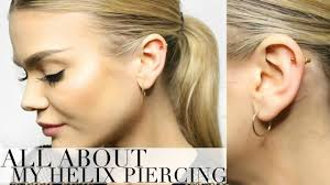 helix cartilage earrings my helix cartilage piercing experience i fainted faq