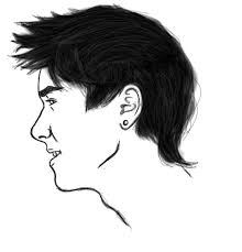 doodle male face side view by reaper chan13 on deviantart