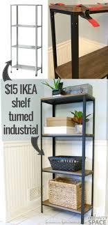ikea industrial wood and metal ikea hack industrial shelf remodelaholic cheap