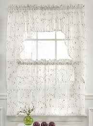 Fancy Kitchen Curtains Amazing Of Lace Kitchen Cafe Curtains Decorating With Best 25