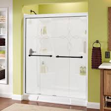 home depot glass shower doors delta phoebe 60 in x 70 in semi framed sliding shower door in