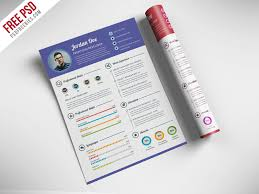 psd resume template download professional resume cv template free
