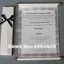 wedding scroll invitations buy wedding scroll invitations and get free shipping on aliexpress
