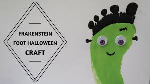 Halloween Craft Pictures by 1 Year Old Baby Halloween Craft Frakenstein Foot Youtube