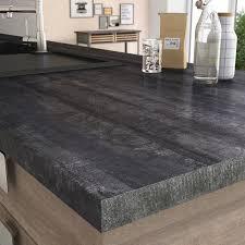 cuisine bois plan de travail noir plan de travail stratifié bois inox au meilleur prix leroy