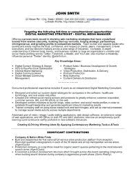 sample resume marketing u2013 topshoppingnetwork com